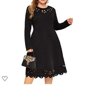 Dresses - Black fit and flare dress